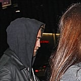 Robert Pattinson at an Arctic Monkeys show.