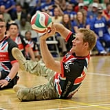 He experienced seated volleyball at the Warrior Games in May 2013.