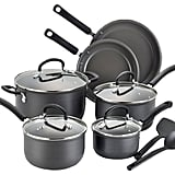 T-fal 12-Piece Anodized Nonstick Ceramic Coating Cookware Set in Black ($90)