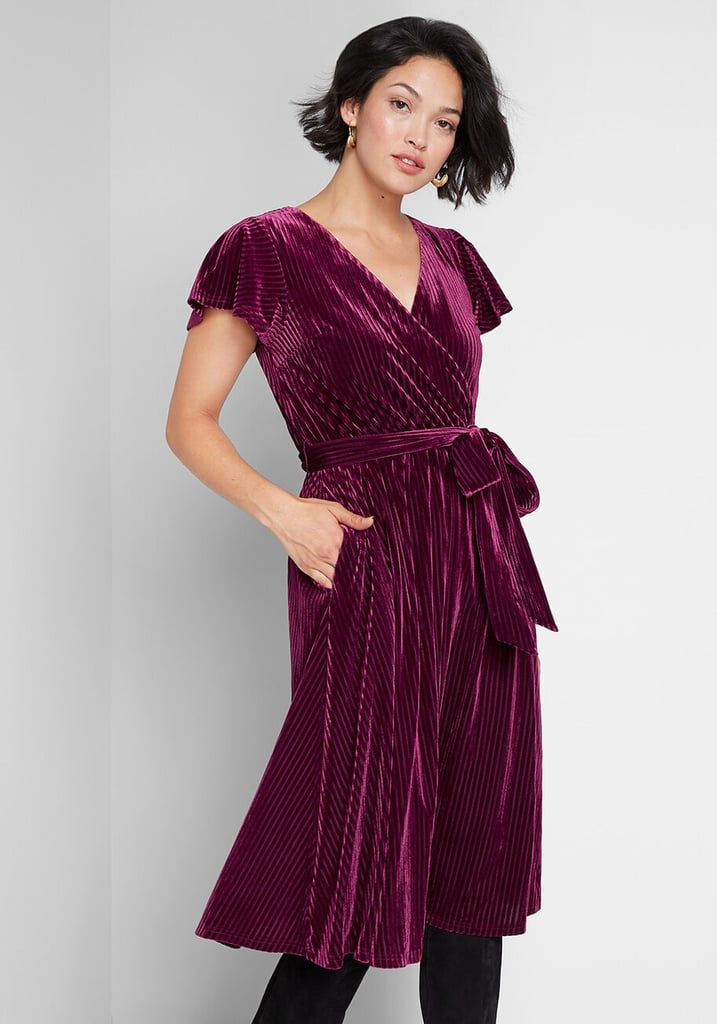 Timeless Embrace Velvet Midi Dress
