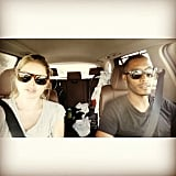 Doutzen Kroes took baby Myllena and son Phyllon on their first family road trip. Source: Instagram user doutzen