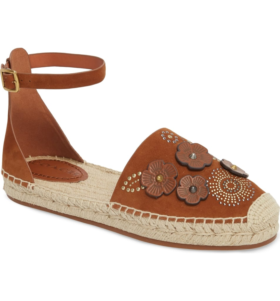 Coach Astor Ankle Strap Flats