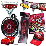 Cars Showbag ($26) Includes:  Wheel carry bag  Lightning McQueen plush toy  Roller stamp set