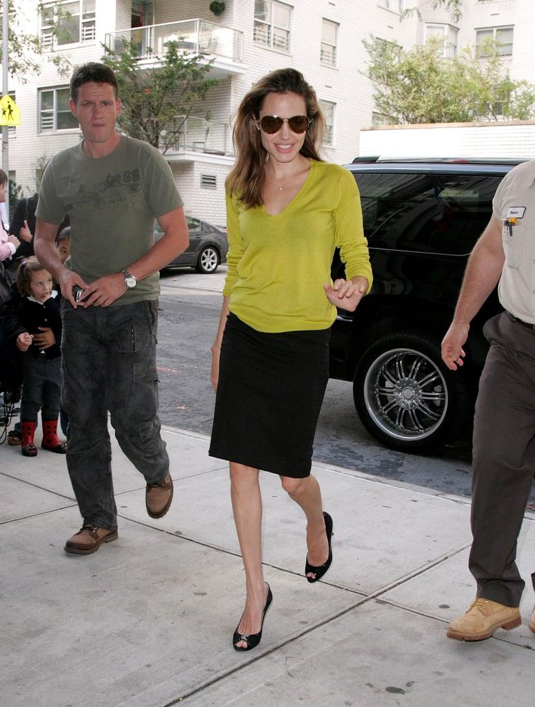 wearing gucci sunglasses angelina jolie wearing