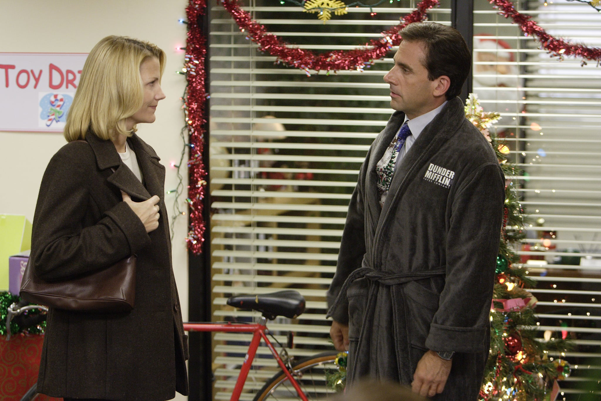 THE OFFICE, Nancy Walls, Steve Carell, 'A Benihana Christmas', (Season 3, aired Dec 14, 2006), 2005-. photo: Paul Drinkwater / © NBC / Courtesy Everett Collection