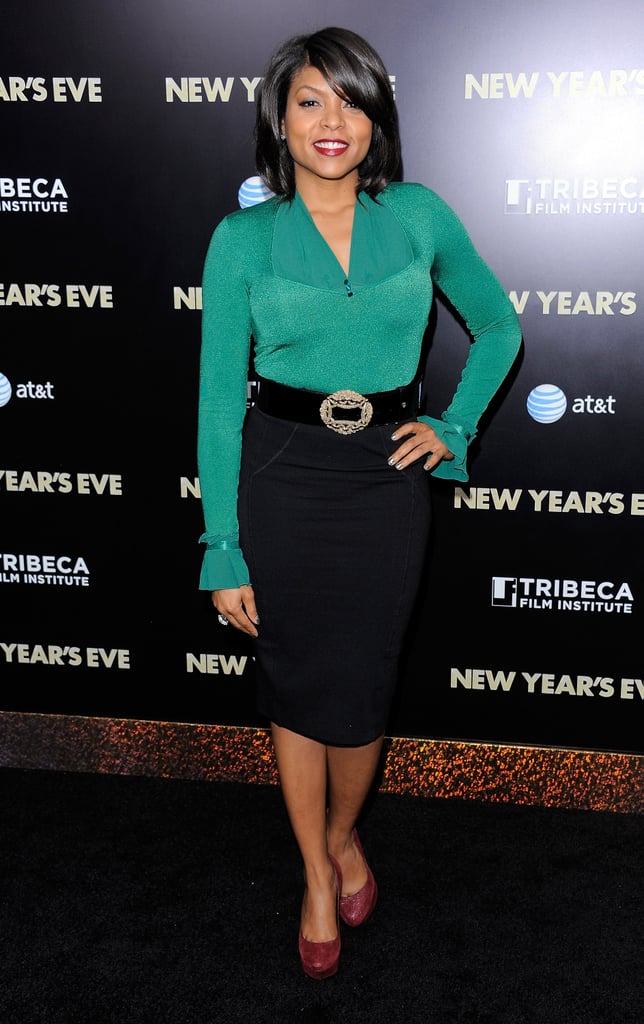 Taraji P. Henson was a bright pop of color on the black carpet.