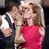 Darren Le Gallo kissed his award-winning fiancé, Amy Adams.