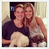 Bar Refaeli had a little family and canine fun.  Source: Instagram user barrefaeli