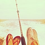 Lauren Conrad went fishing with a friend.  Source: Instagram User laurenconrad