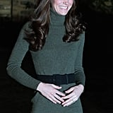 Kate was all smiles as they visited the Centrepoint charity.