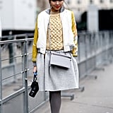 Susie Bubble married the school-girl vibe with high-wattage accents, like those citron-trimmed oxfords.
