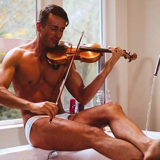 Shirtless Violinist (Video)