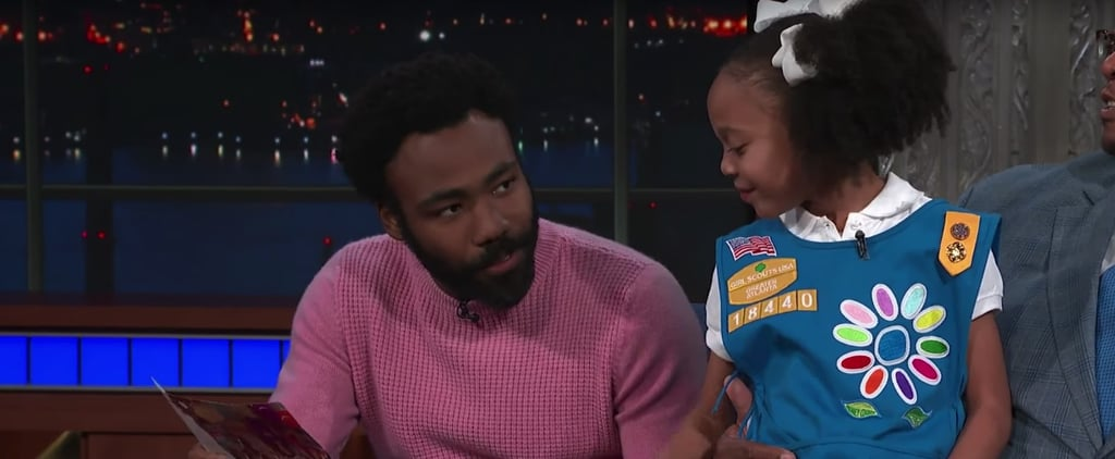 """So Cute! Donald Glover Buys Every Box of Thin Mints From Girl Scout Who Sang """"Redbone"""""""