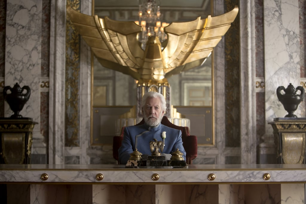 President Snow is chilling.