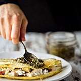 Pesto Egg White Omelet With Goat Cheese