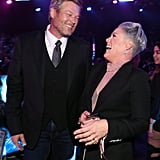 Blake Shelton and Pink at the 2019 People's Choice Awards