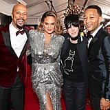 Pictured: Common, Chrissy Teigen, Diane Warren, and John Legend