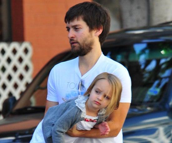 Slide Photo of Tobey Maguire with Ruby in LA