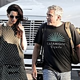 Amal Clooney Polka-Dot Outfit in LA October 2016