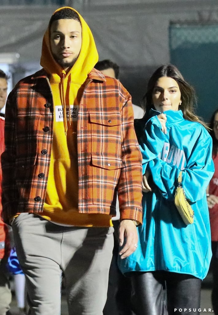 Kendall Jenner and Ben Simmons at the 2020 Super Bowl