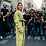 Elevate a boiler suit with heels and watch the compliments roll in.