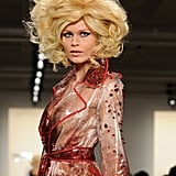 Big and blond was, unsurprisingly, the order of the day at The Blonds' Fall 2013 show, with models sporting an array of big wigs, including this dramatic take on Marilyn Monroe's famous blond bob.