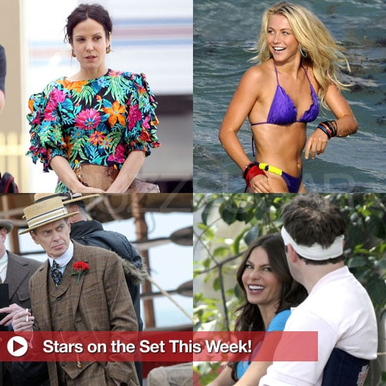 Pictures of Celebrities on Set