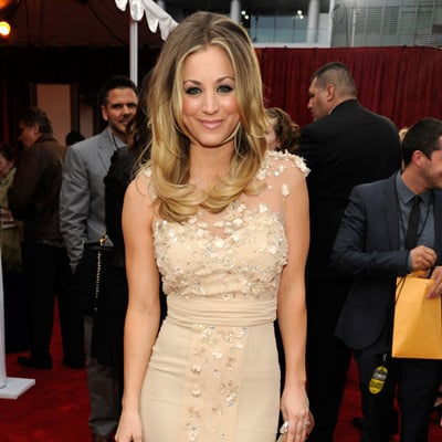 Kaley Cuoco Nude Badgley Mischka Dress Pictures at 2012 People's Choice Award