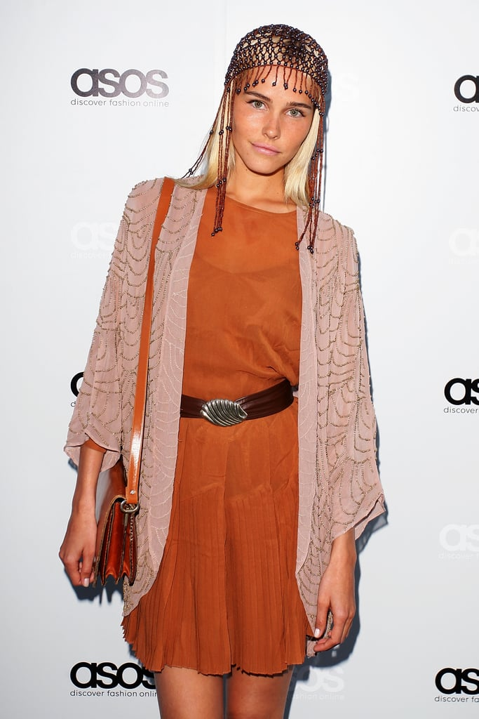 Pictures of isabel Lucas at ASOS Australia Launch in Sydney: Scope Her Boho Outfit from All Angles!