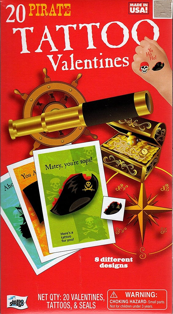 Pirate Tattoo Kids Valentine Cards