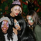 Kelly Rowland and Michelle Williams got their faces painted at Blue Ivy's birthday party. Source: Tumblr user Beyoncé Knowles