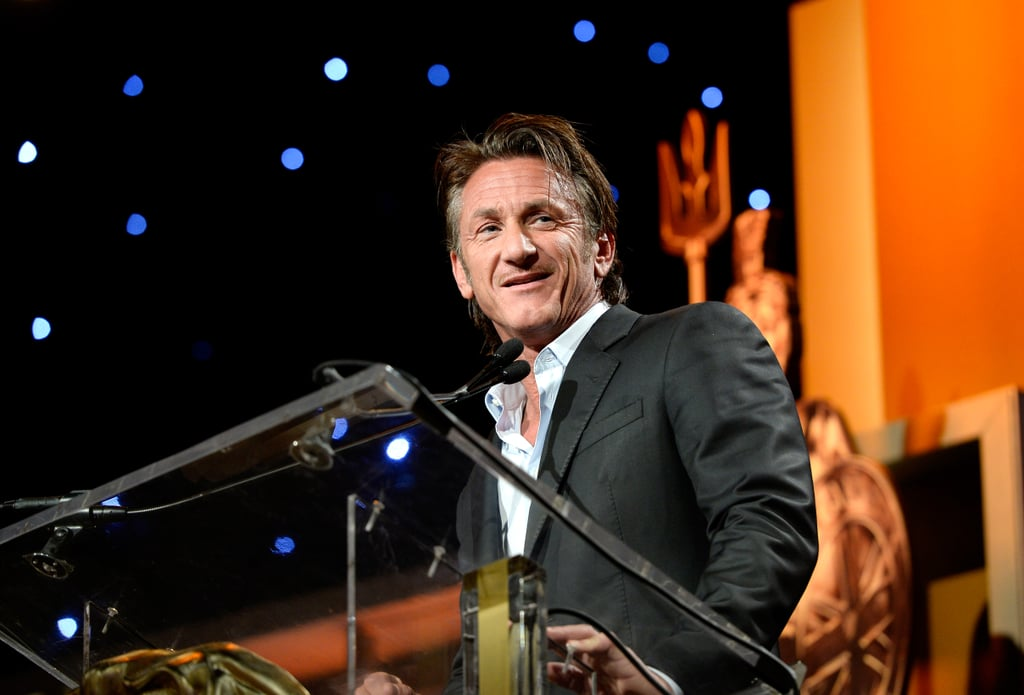Sean Penn presented on stage.