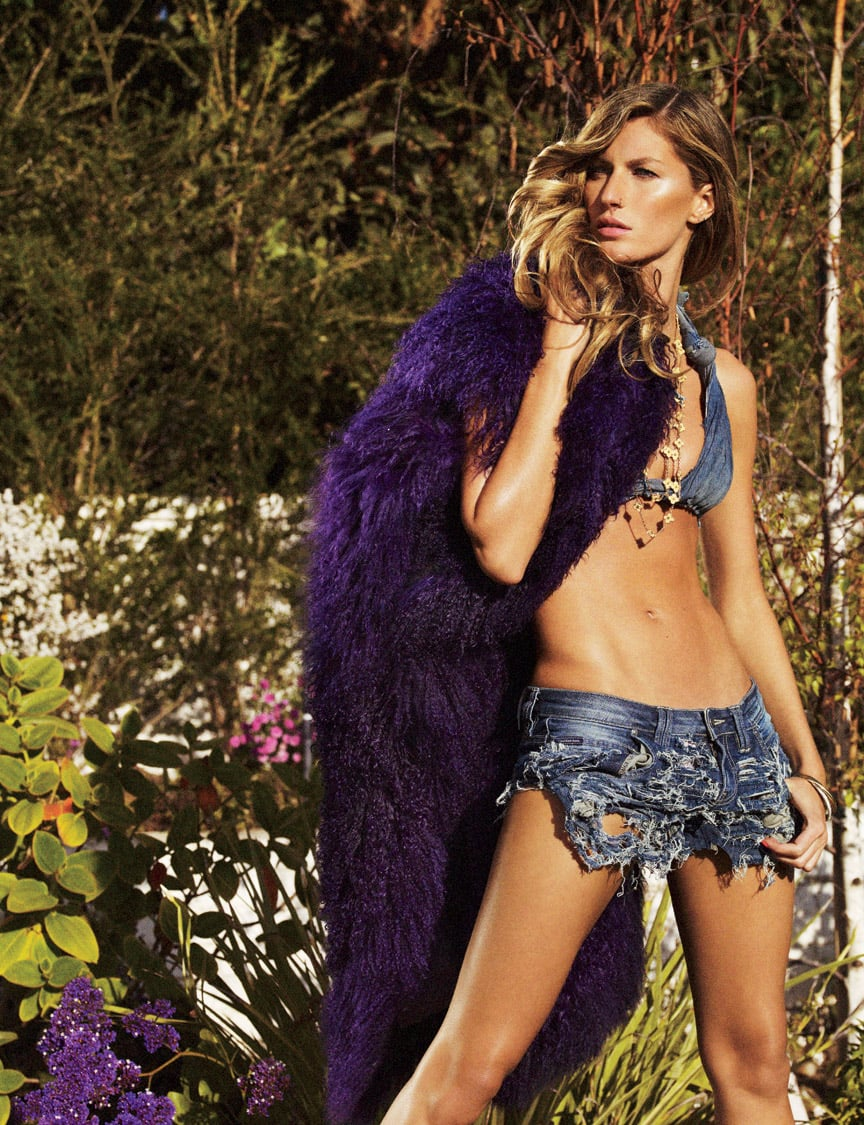 Gisele for V54: Trashy in Denim, But Environmentally Friendly