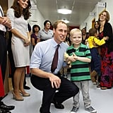 Will meets with a small boy.