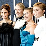 Pictured: Emma Watson, Saoirse Ronan, Florence Pugh, and Eliza Scanlen at the Little Women world premiere.