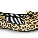Let's be honest — the leopard print is a perennial print favorite. To embrace it this season, try a muted version with a luxe finish. It's not so much an exotic look here as it is a dynamic, eye-catching accent piece. Style them with an ankle-cut red jean and silky nude blouse. Charles Philip Shanghai Sheila Leopard-Print Matte-Satin Loafers ($135)