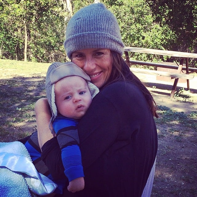 Soleil Moon Frye and Lyric Goldberg enjoyed the baby's first camping trip. Source: Instagram user moonfrye