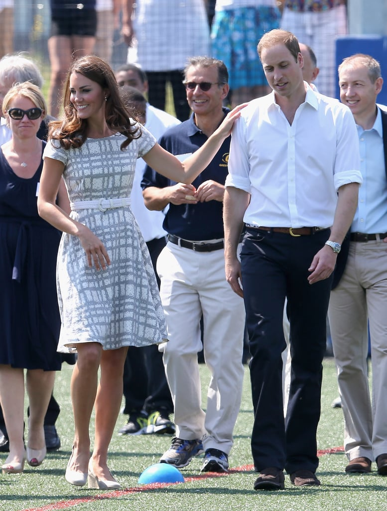 In July 2012, Kate Middleton joked around with Prince William during their visit to Bacon's College in London.