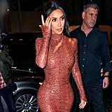 See More Pics of Kim in Her Mugler Dress