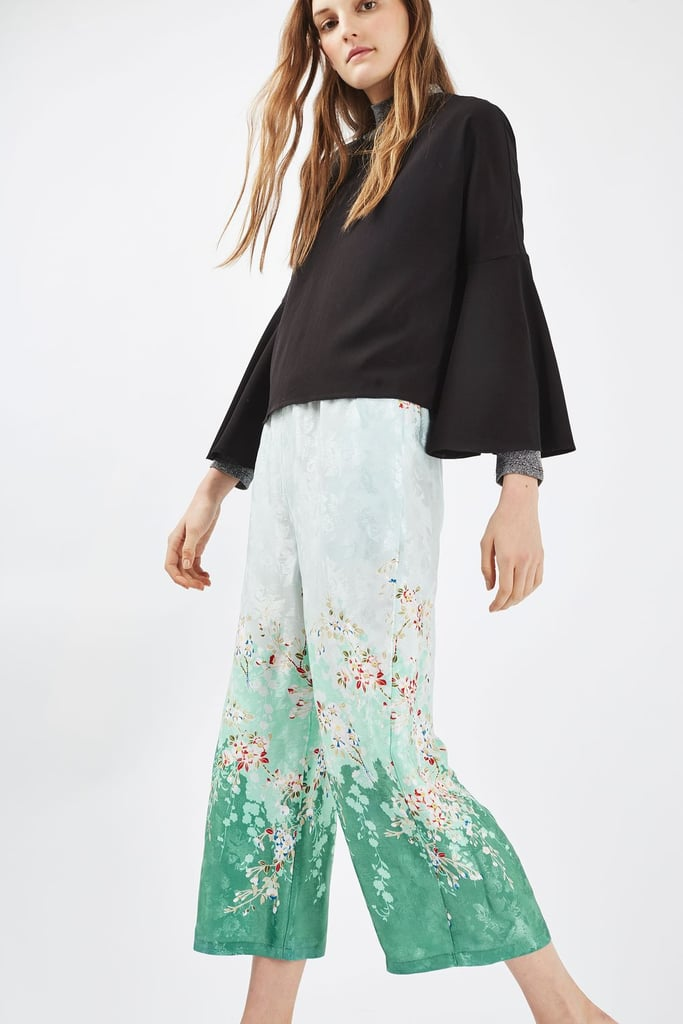 Topshop Blossom Print Trousers