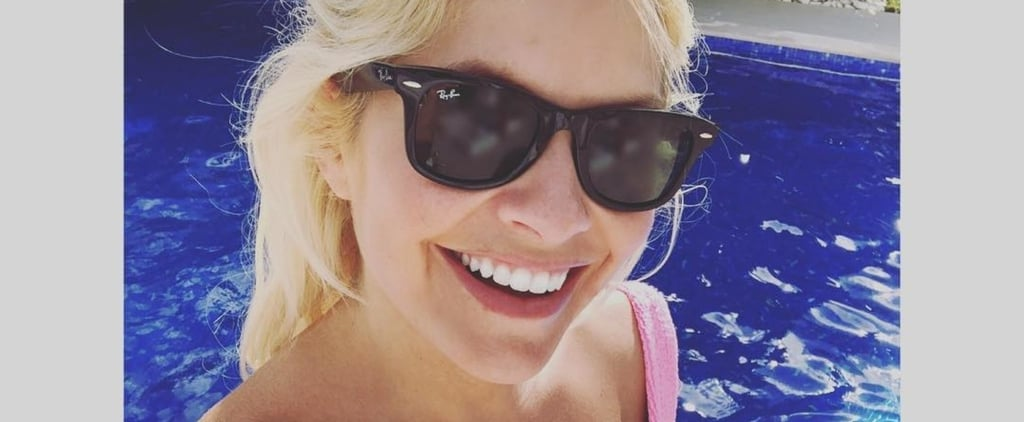 Holly Willoughby's Pink Swimsuit