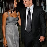 Matt and Luciana Damon shared a sweet look at the London premiere of The Bourne Ultimatum in August 2007.