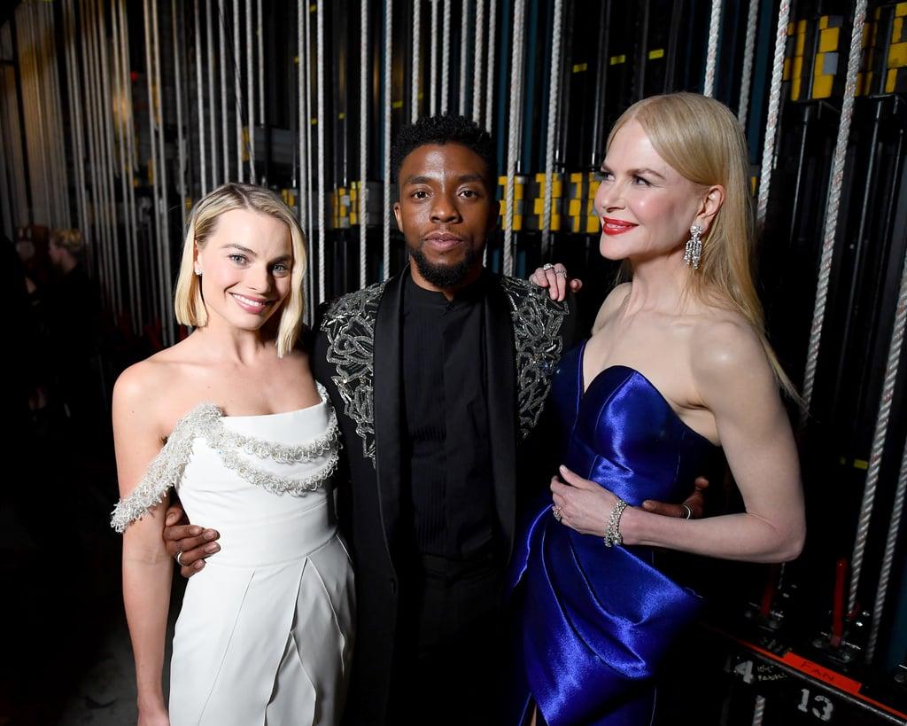 Pictured: Margot Robbie, Chadwick Boseman, and Nicole Kidman