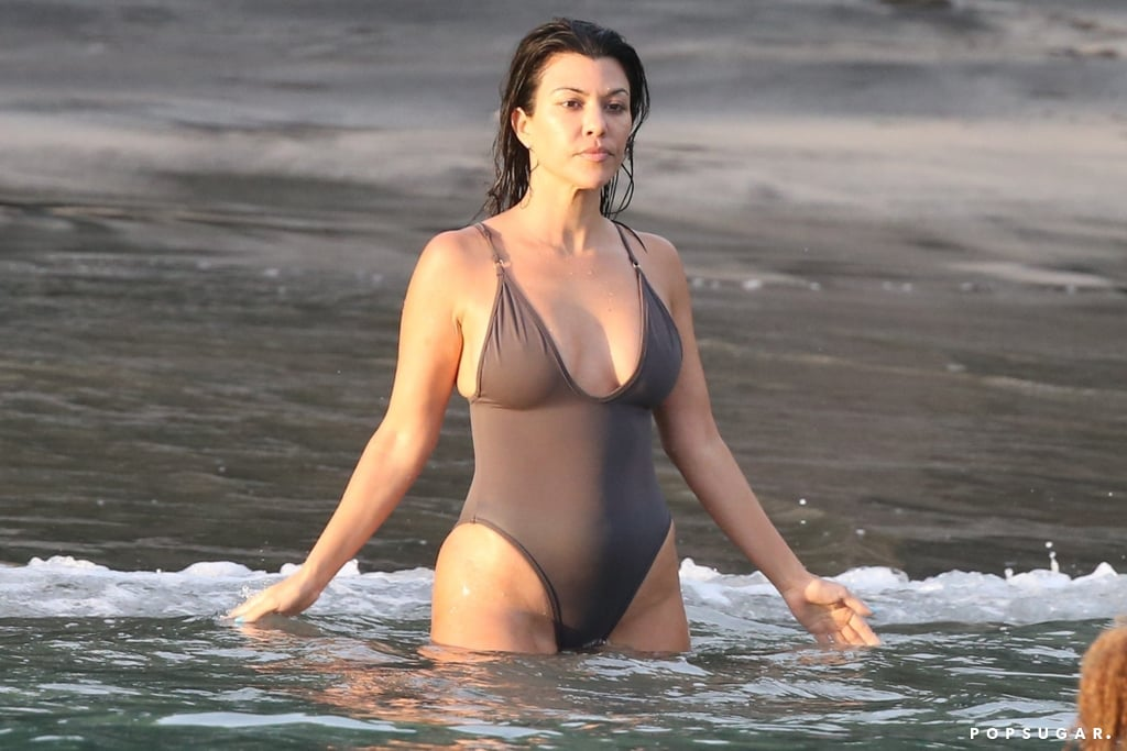 Kourtney Kardashian Brown Swimsuit in Costa Rica June 2019 ...
