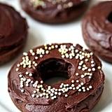 Vegan Chocolate Iced Doughnuts