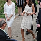 Kate Middleton Sports Two Ladylike White Outfits in Canada Alongside Husband Prince William