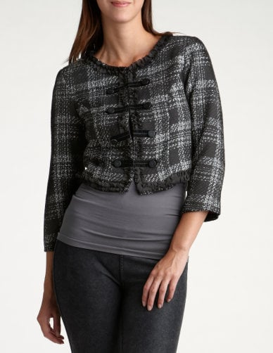 Charlotte Russe Cropped Plaid Jacket ($19)
