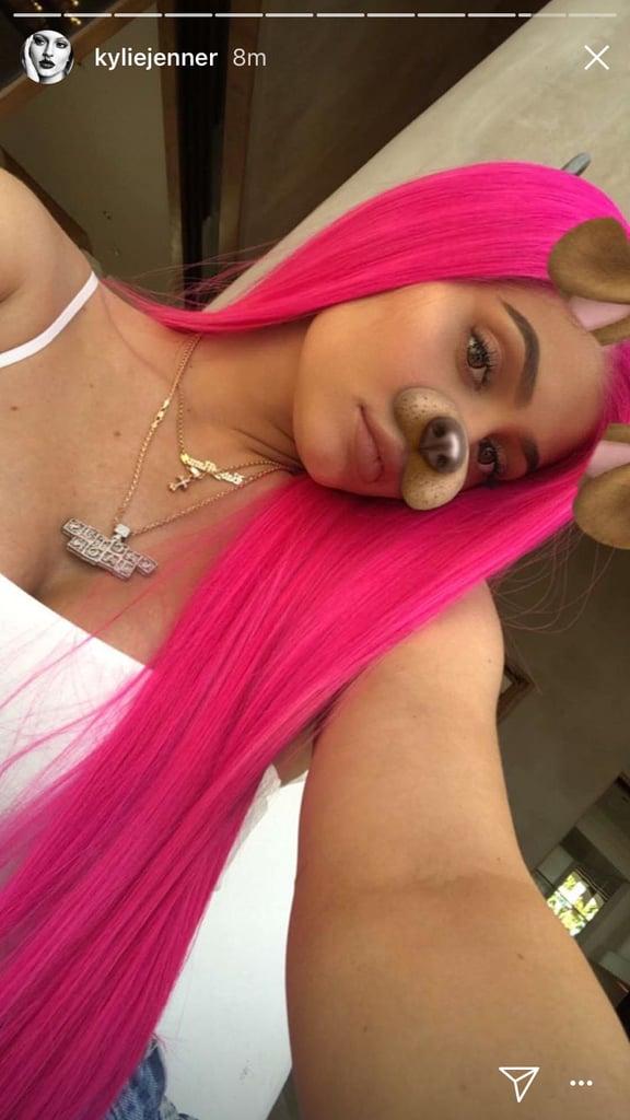 Kylie Jenner Hot Pink Hair Coachella 2018 Popsugar