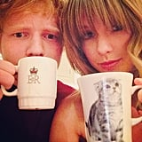 """When Ed Told Taylor to Caption Their Mug Selfie, """"SWEERAN"""""""