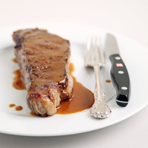 NY Strip Steak With Miso Mustard Sauce